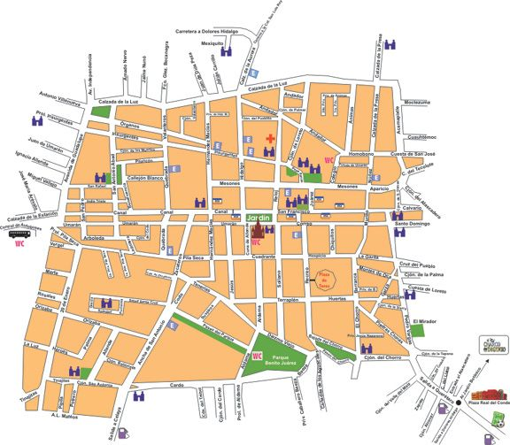 map of central san miguel de allende gto allsanmiguel
