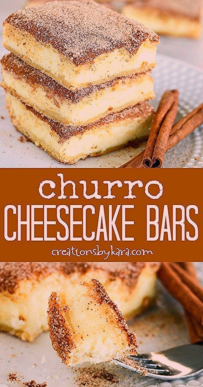 The crunchy cinnamon of churros combined with the creamy tanginess of cheesecake...