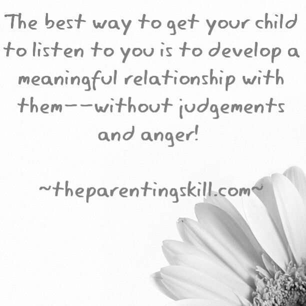 Develop The Parent Child Relationship Parenting Quotes