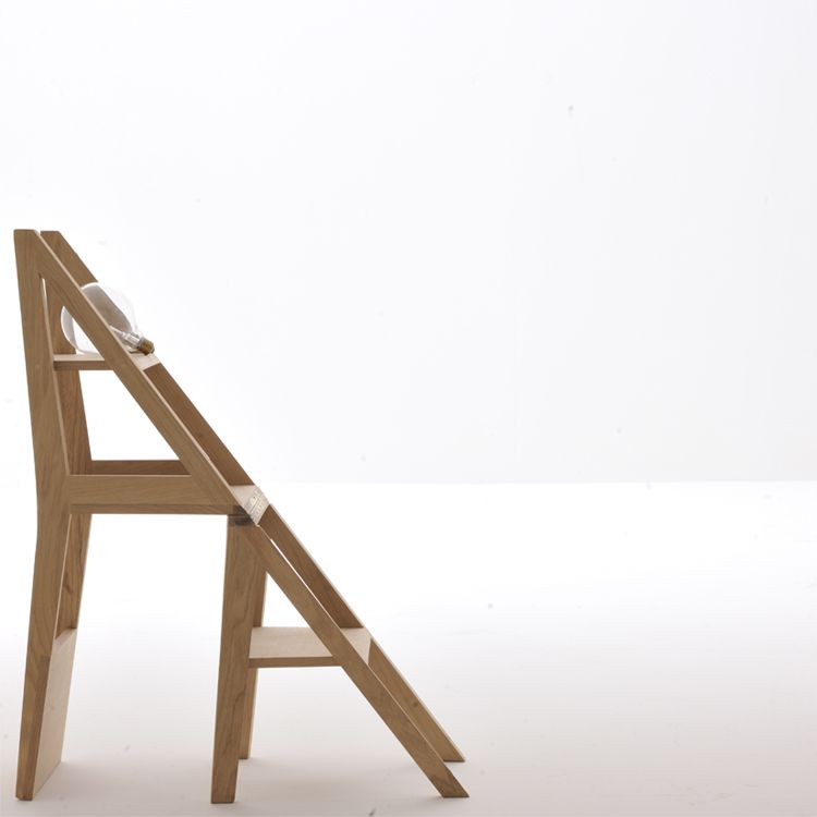 Scala Zero Is A Multifunctional Wooden Chair That Transforms Into A Small  Stepladder With One Easy