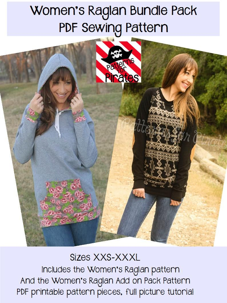 Relaxed Raglan And Add On Pack Bundle Raglan Shirts Patterns