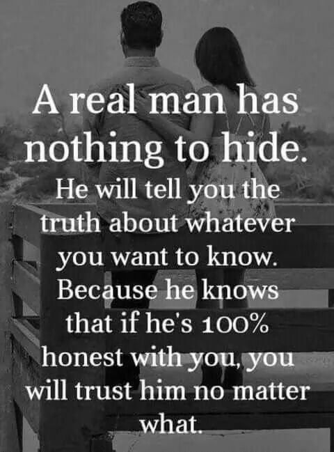 Too bad not all men are like this. Some will lie to save themselves no matter who their lies hurt... cowards *cough cough*