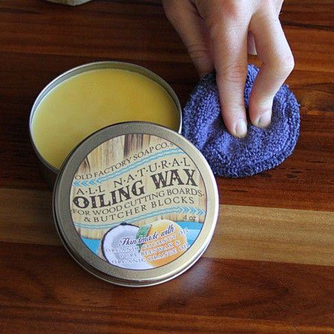 Natural Cutting Board Seasoning Wax Tin Ever Wonder Why