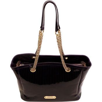1cb98398d1 Costco  Versace Collection Patent Leather Tote – Eggplant