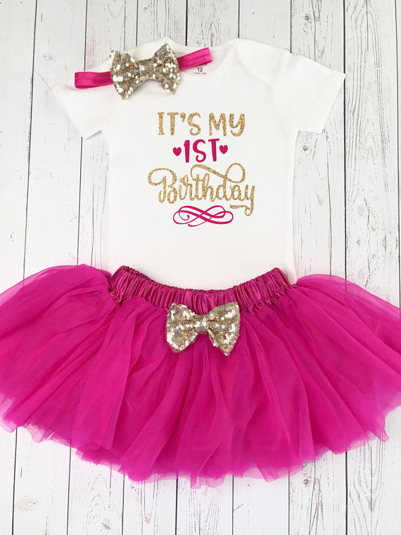c0120a34ff5b4 Baby Girl First Birthday Outfit