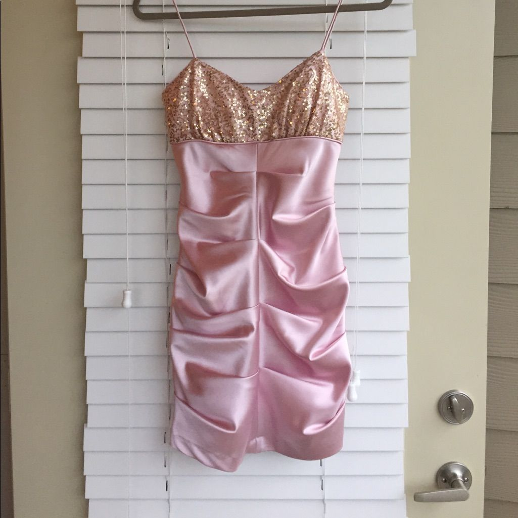 Light pink satin short prom dress satin shorts and products