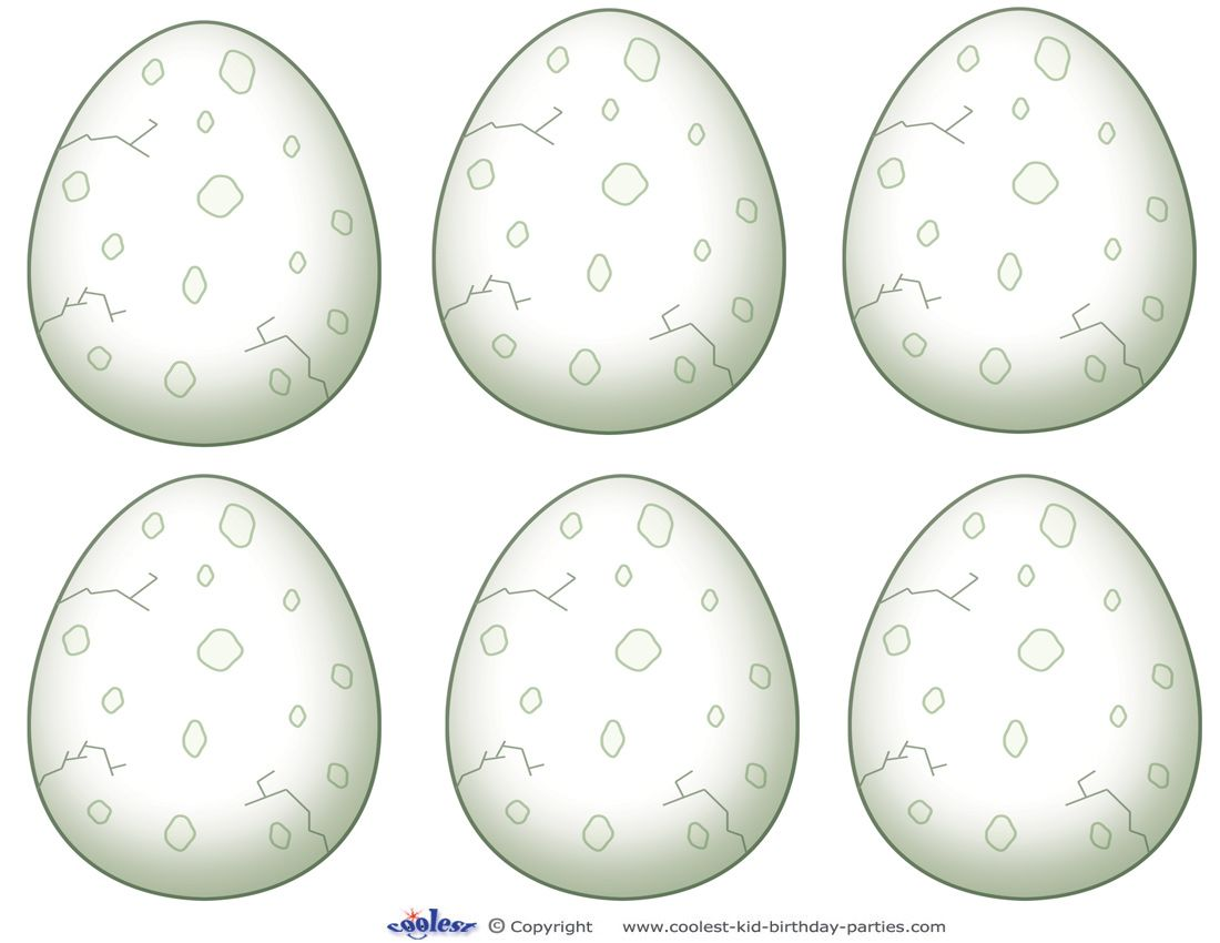 Blank Printable Dinosaur Egg Thank You Cards