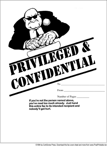 This Printable Fax Cover Sheet With A Cartoon Of A Threatening