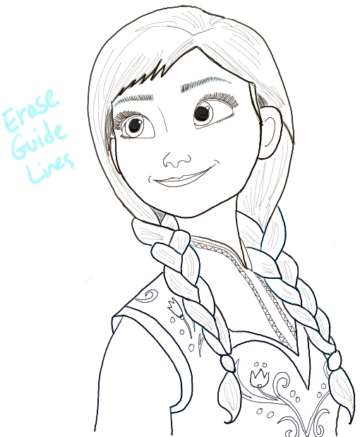 How to Draw Princess Anna from Frozen Step by Step