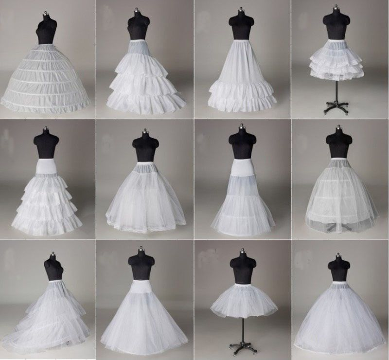 12Style White A Line Fishtail Hooples Crinoline Petticoat Underskirt For Wedding