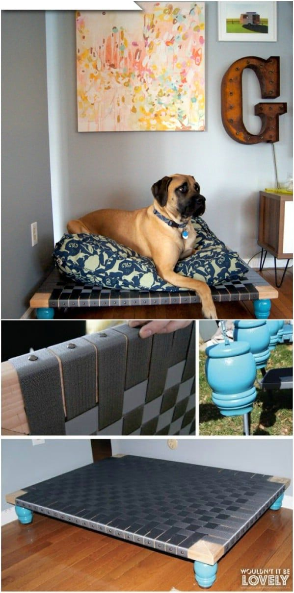 20 Easy DIY Dog Beds and Crates That Let You Pamper Your Pup -   20 diy dog outdoor