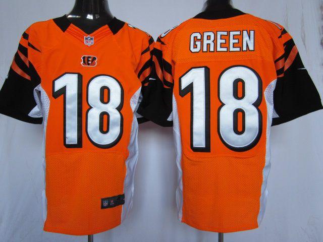 Hot Nike Cincinnati Bengals #18 A. J. Green Orange Elite jersey ID  hot sale