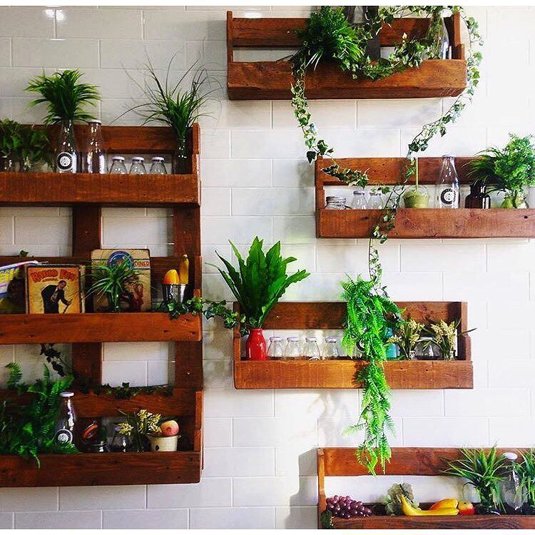 Our Pallet Shelving All Set Up. #recycle #recycled