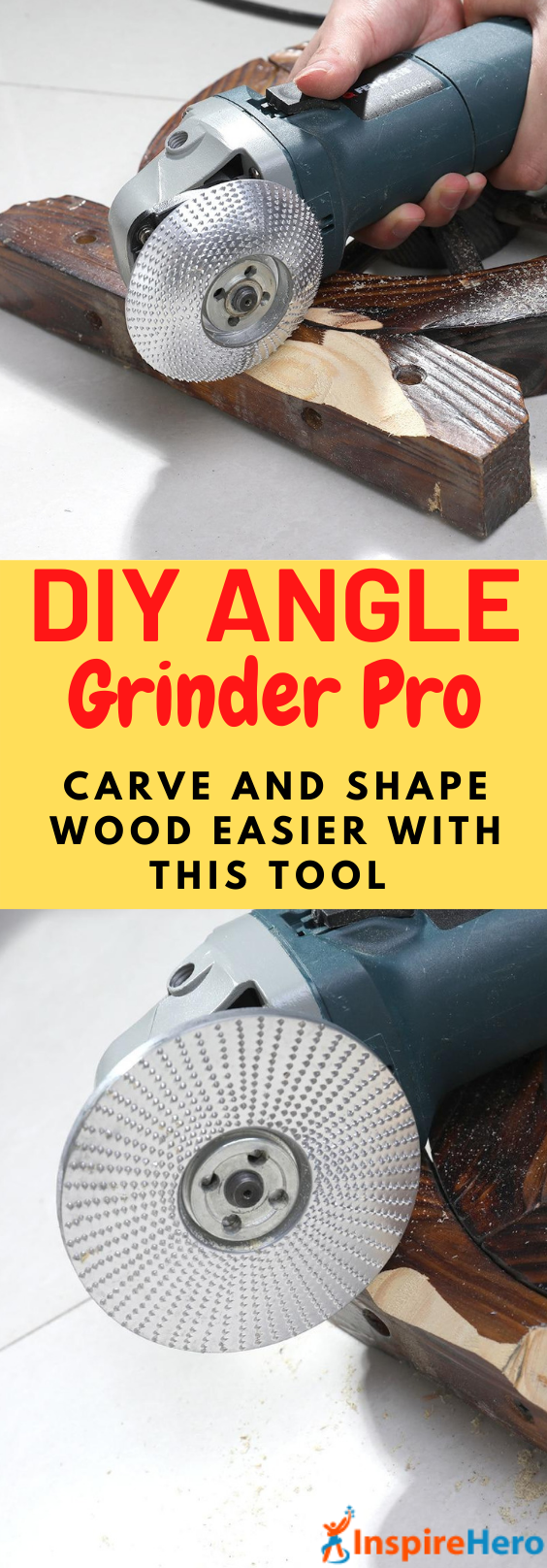 "Want to be able to get your woodworking projects done quicker? Our Angle Grinder Pro provides a precise angle to provide a smooth ""finished"" surface that benefits a lot to minimize sanding later. It also fits with most branded angle grinders. #toolsmusthave #projectswoodworking #toolsdiy #easywoodworkingprojects #powertools #toolsforwoodworking"
