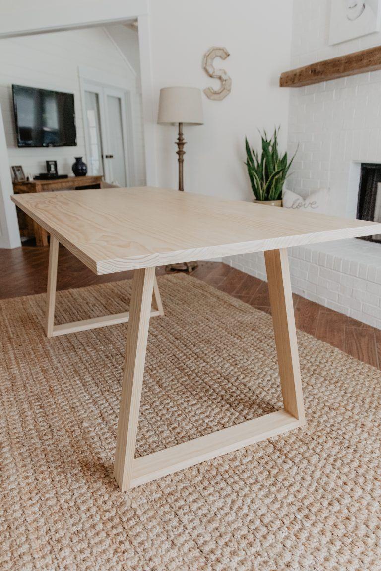 Diy modern dining table woodbrew diy dining room table