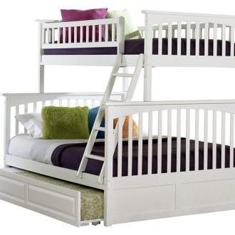Twin Over Queen Bunk Beds Bunk Beds Twin Over Full Wood White