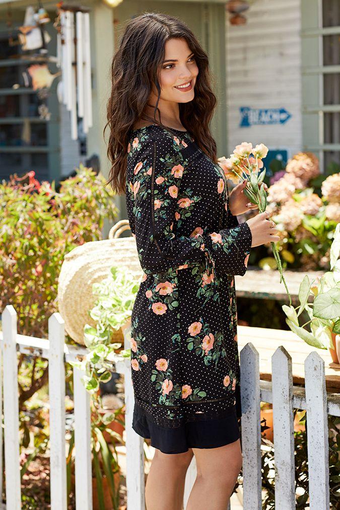 03869d9d21 Women s LC Lauren Conrad Inset Lace Shift Dress
