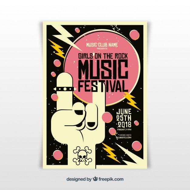 5adf337dbb53c Plantilla de cartel de festival de música rock
