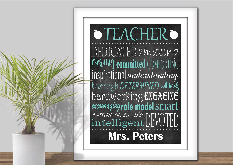 personalized teacher subway art printable teacher word art