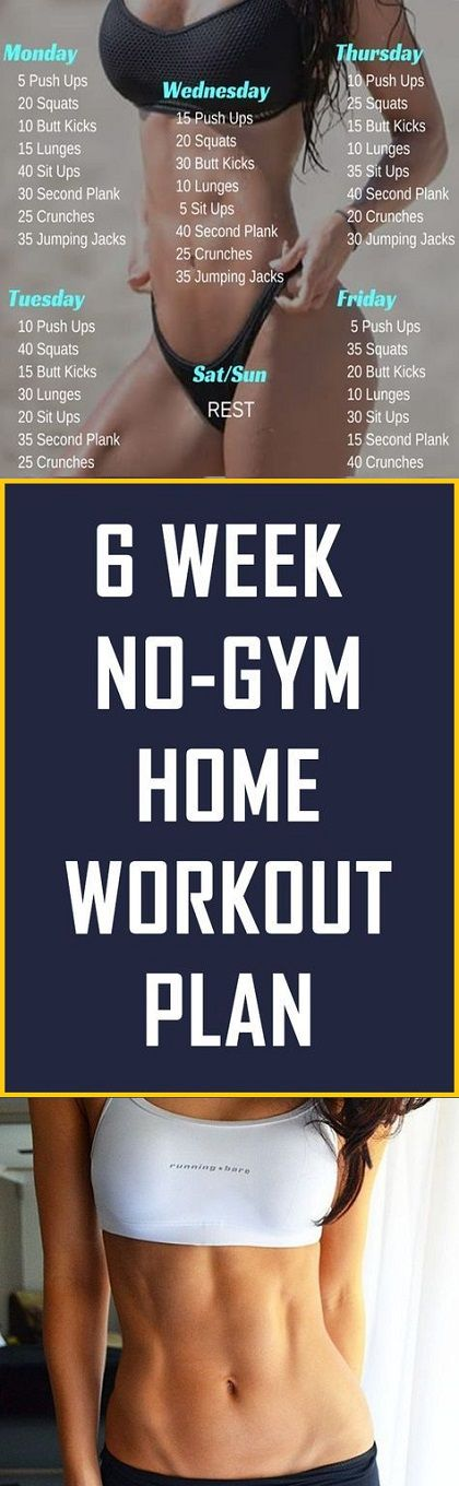 6 Week No-Gym Home Workout Plan - #workoutplan