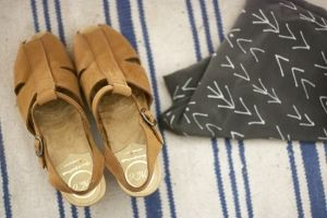 Wiksten Arrow Scarf + No.6 clogs via Wiksten by roslyn