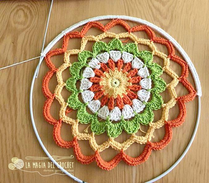 La Magia del Crochet: MANDALA A CROCHET   DECORACION   Pinterest ...