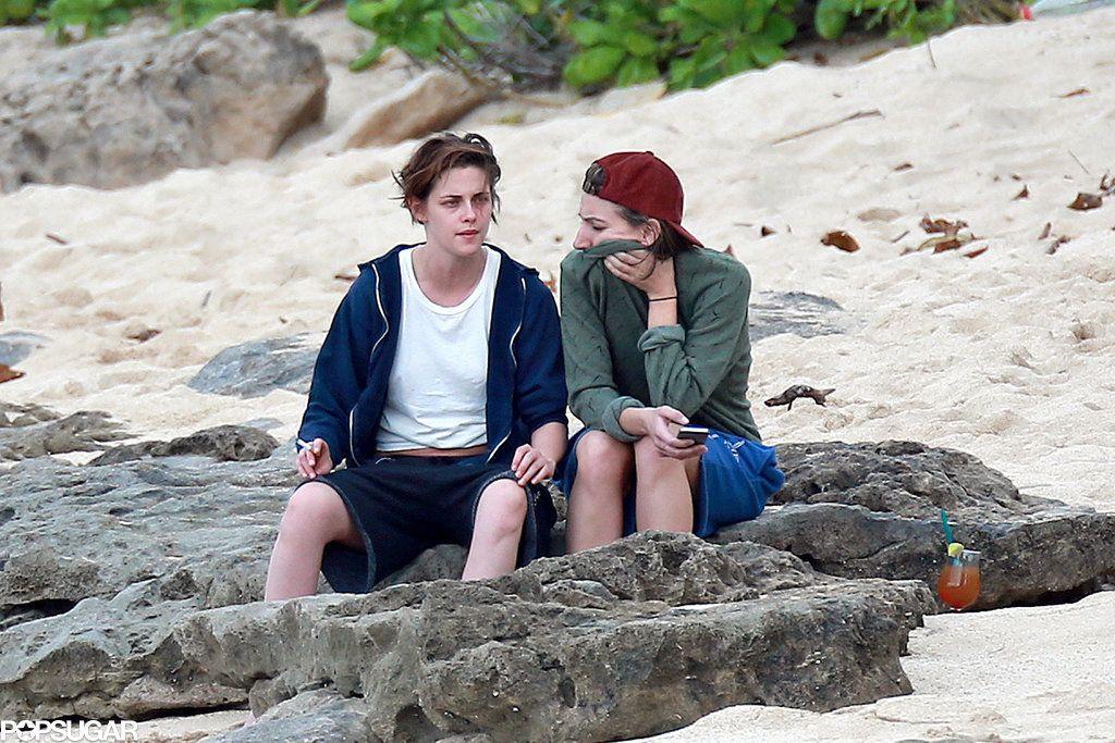 Kristen Stewart and Her Gal Pal Show Sweet PDA in Hawaii