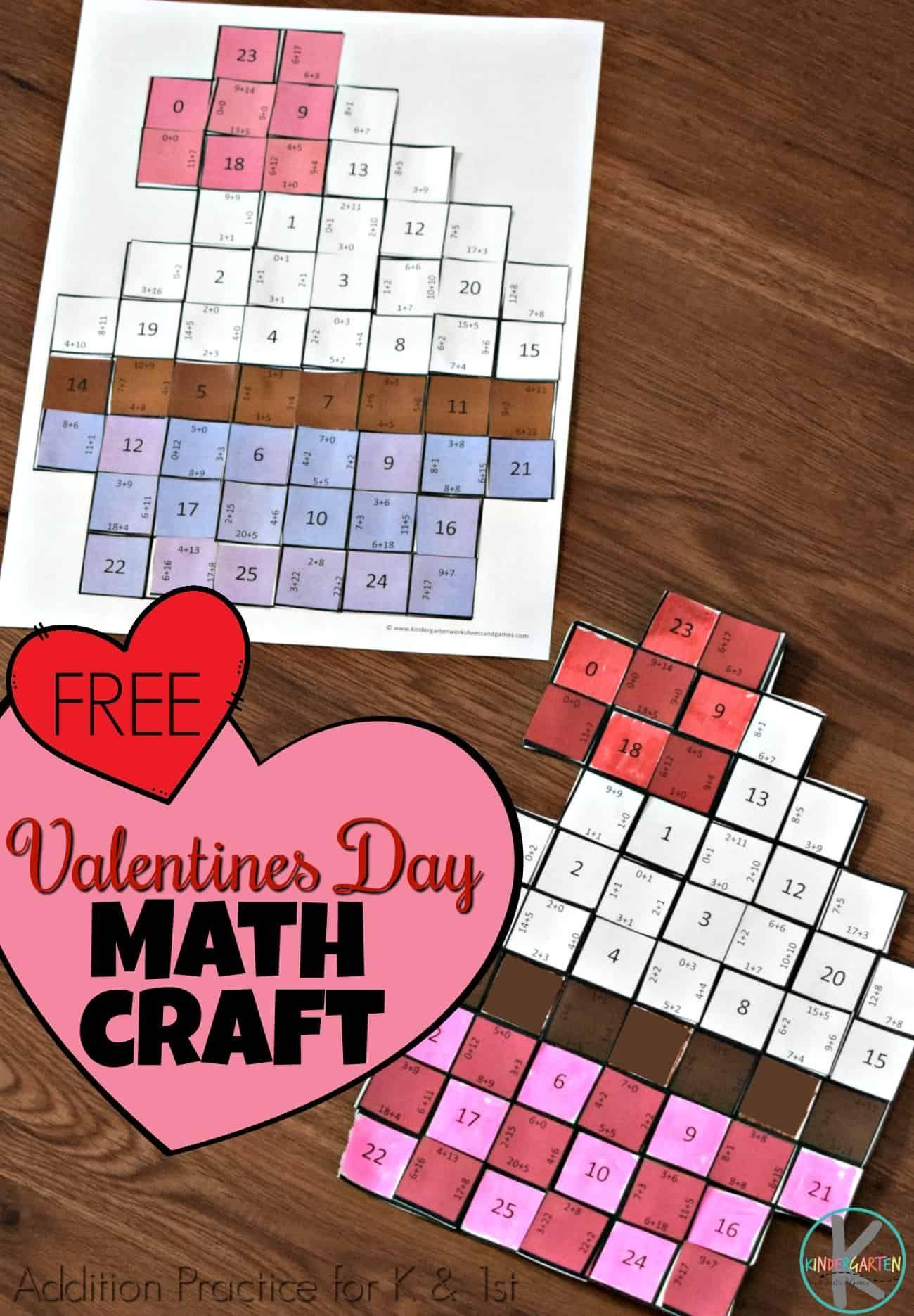 Free Valentines Day Math Craft