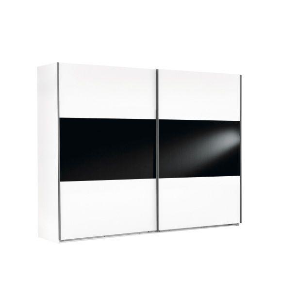 Schwebetürenschrank Weiß / Schwarz   Home - Furniture   Pinterest ...