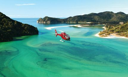 New Zealand helicopter flights over Abel Tasman National Park and further afield into Golden Bay, Farewell Spit and beyond...