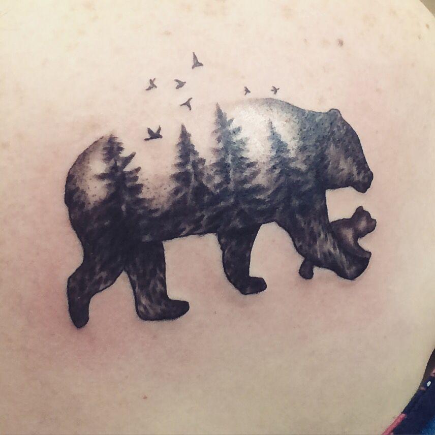 Love my tat little cub for my son tatuagens pinterest for Bear cub tattoo