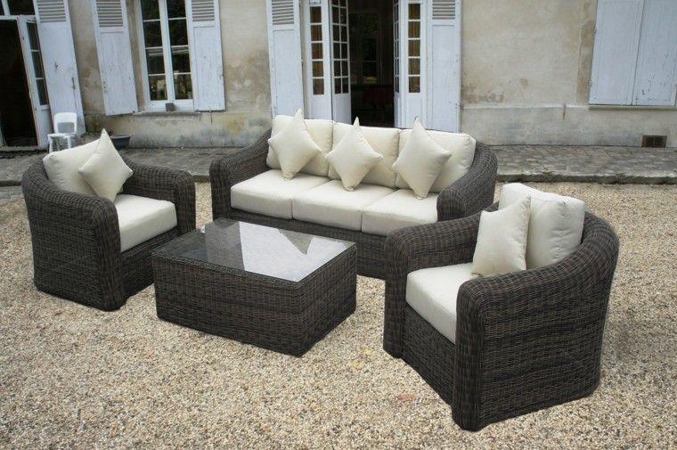 Muebles terraza rattan set de exterior mesa sillones for Conjunto terraza barato