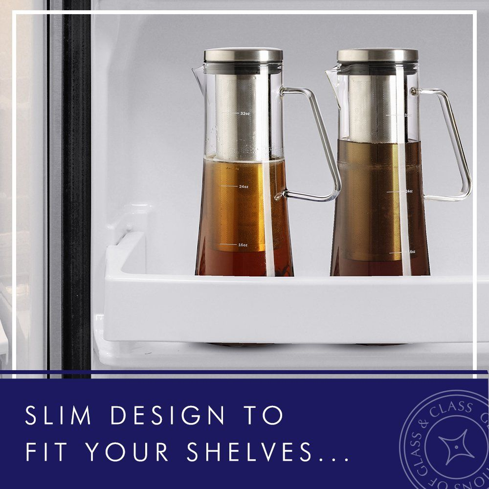 JoyJolt Fresco Cold Brew Iced Coffee Maker Glass Tea Maker