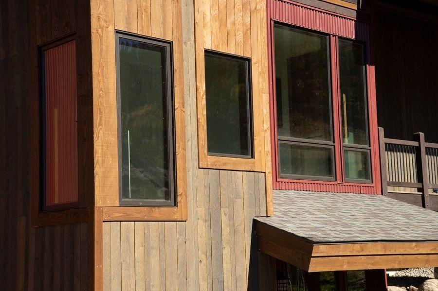 Colorado Duplex Shiplap Siding Architecture Design Door Header