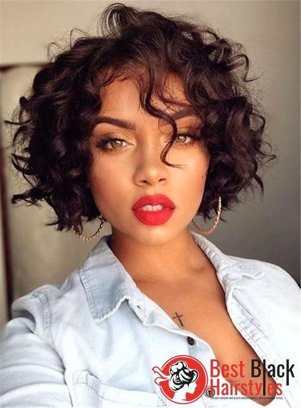 132 Best Attractive Short Bob Hair Models For Black Ladies Short Hair Styles Black Haircut Styles Black Hair Haircuts