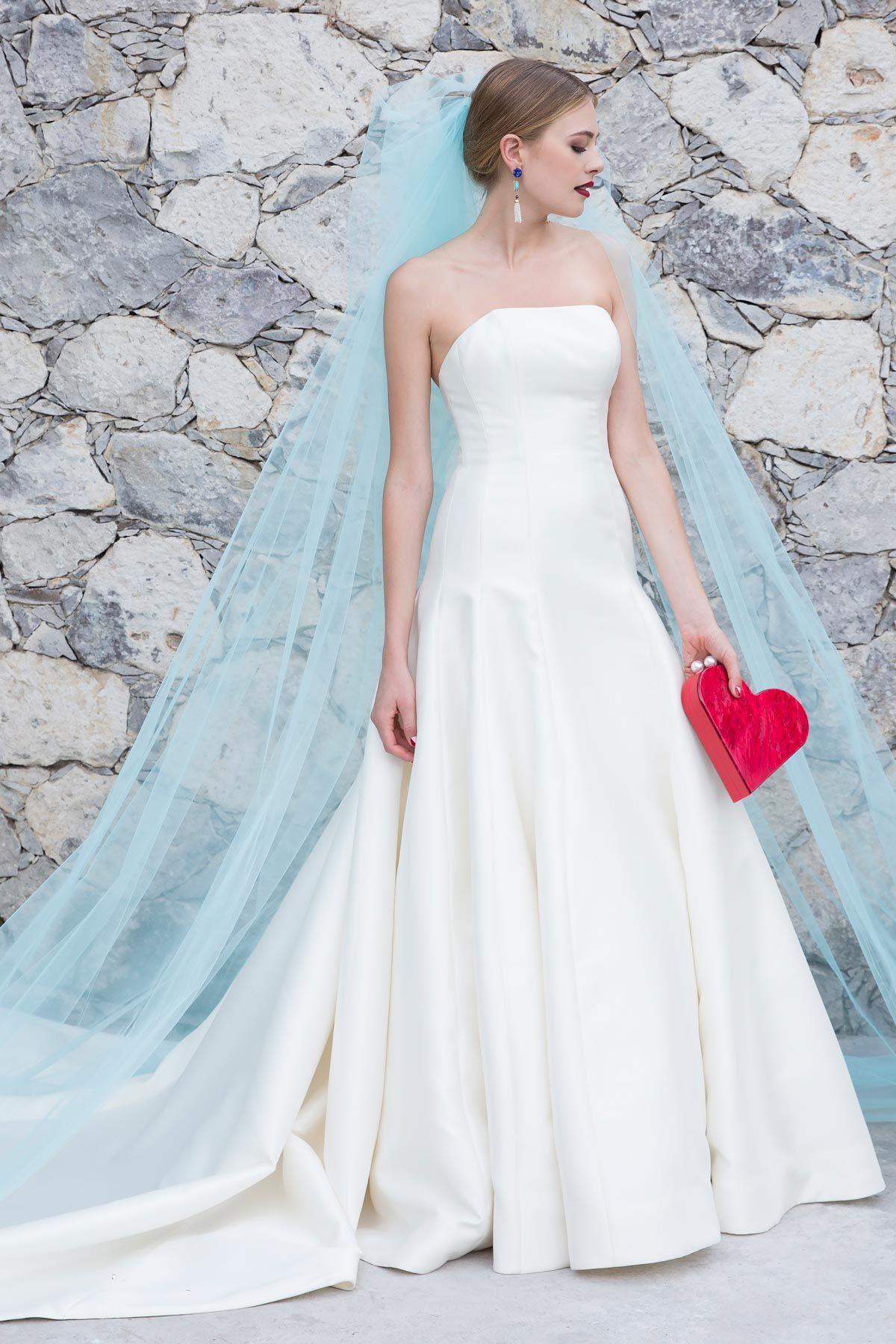Watters Laska Classic Elegant Mikado Gown Dropped Waist