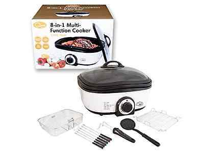 Electric multi #cooker grill boil #saute steam fry roast slow cook