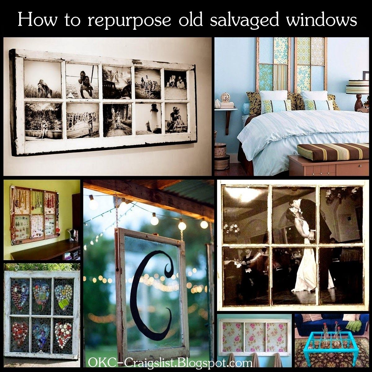 DIY: How To Repurpose Salvaged Old Windows As Home Decor