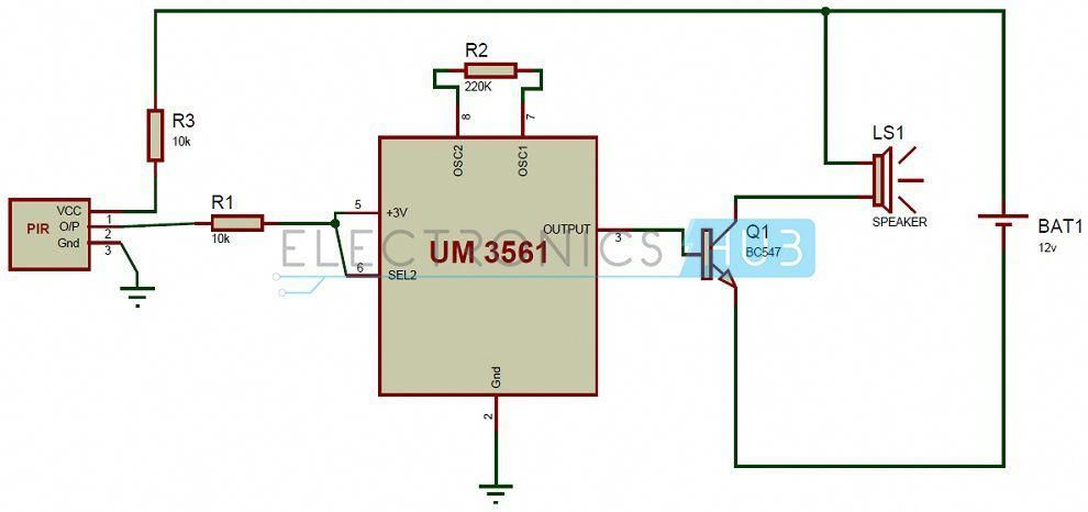 pir sensor based security alarm circuit diagram homesecuritysystems