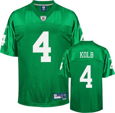 half off 86922 4fbc0 Kevin Kolb 1960 Kelly Green Reebok NFL Premier Philadelphia ...