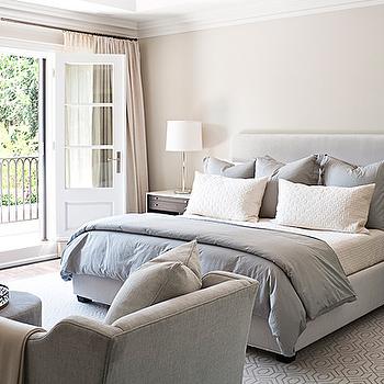 Gray Duvet Transitional Bedroom Jennifer Worts Design