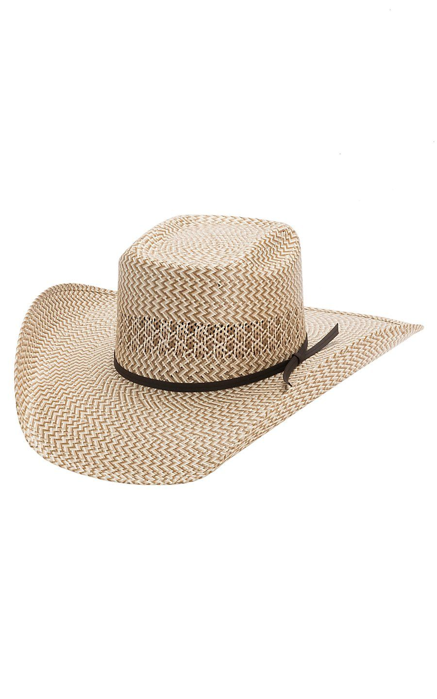 d5797a82bf14e Cavender s 3 Tone Zig-Zag Poly Vent Straw Cowboy Hat