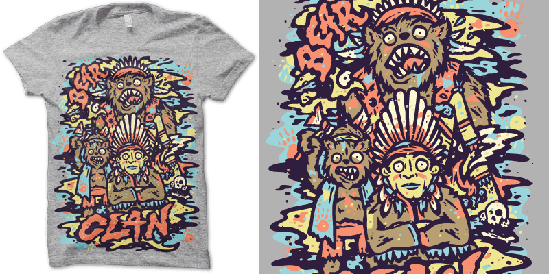 """Bear Clan"" t-shirt design by Jamers"