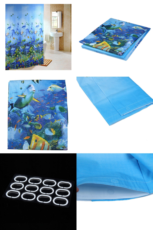 Visit to Buy] 2017 Hot Bathing Curtain Sea Life Waterproof Fabric ...