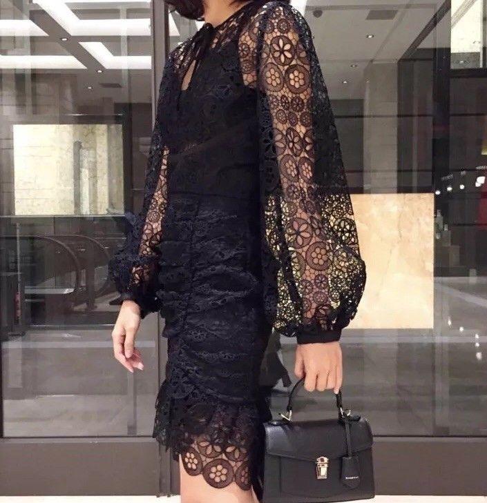 e65a88e0ea3d7 New Season SELF-PORTRAIT black circle floral lace mini dress UK8 #fashion # clothing #shoes #accessories #womensclothing #dresses (ebay link)