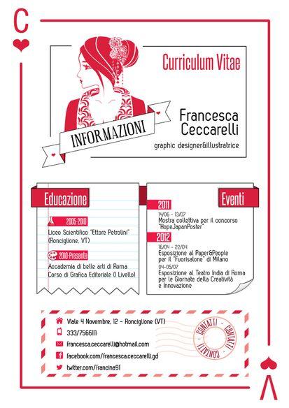 Francesca Ceccarelli Visualcv Lavoro Infographic Resume