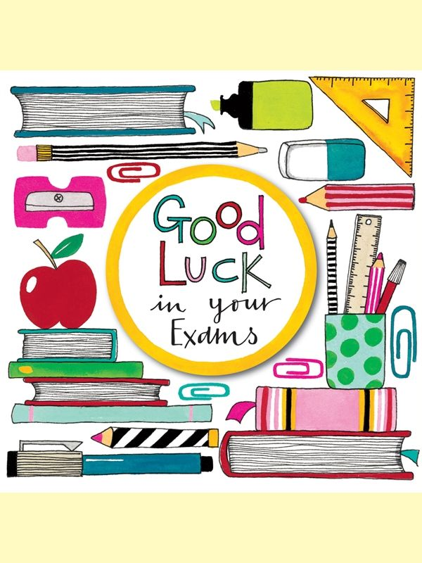 Good Luck in Your Exams! Greeting Card by Rachel Ellen Greetings
