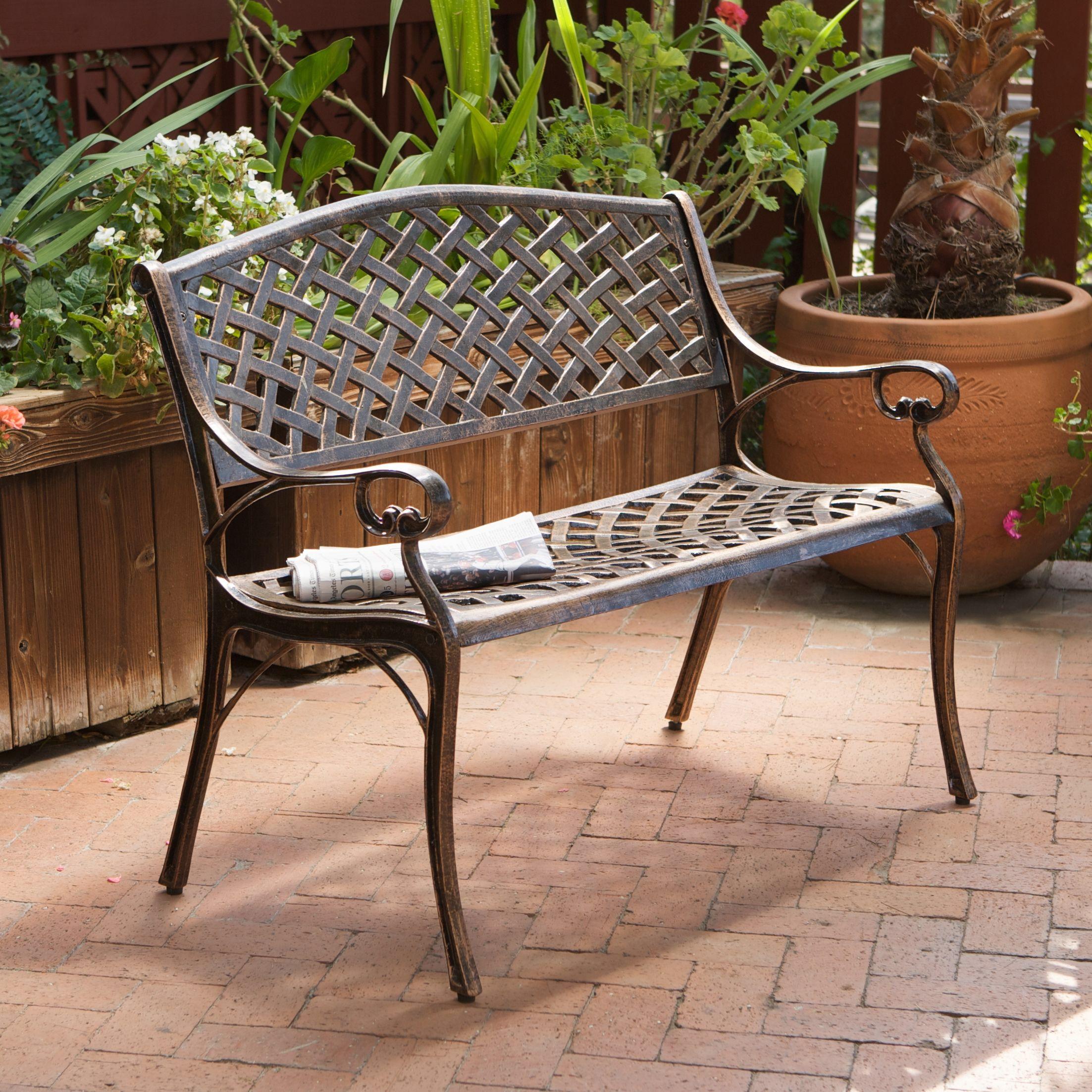 Belize Cast Aluminum Garden Bench