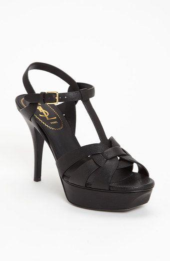 Yves Saint Laurent 'Tribute' Sandal, medium heel, in black