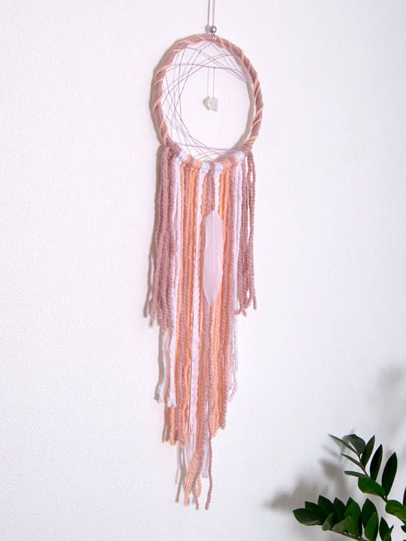 Pink Dreamcatcher Wall Hanging Living Room Decoration Wool ...
